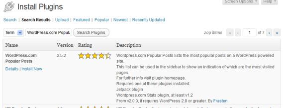 wordpress popular posts plugins