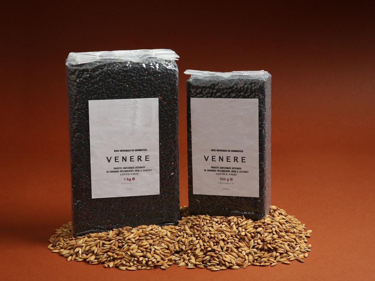 Riseria Re Carlo - Riso integrale ed aromatico Venere - l'autentico riso vercellese di qualità - confezioni da 500gr e 1kg
