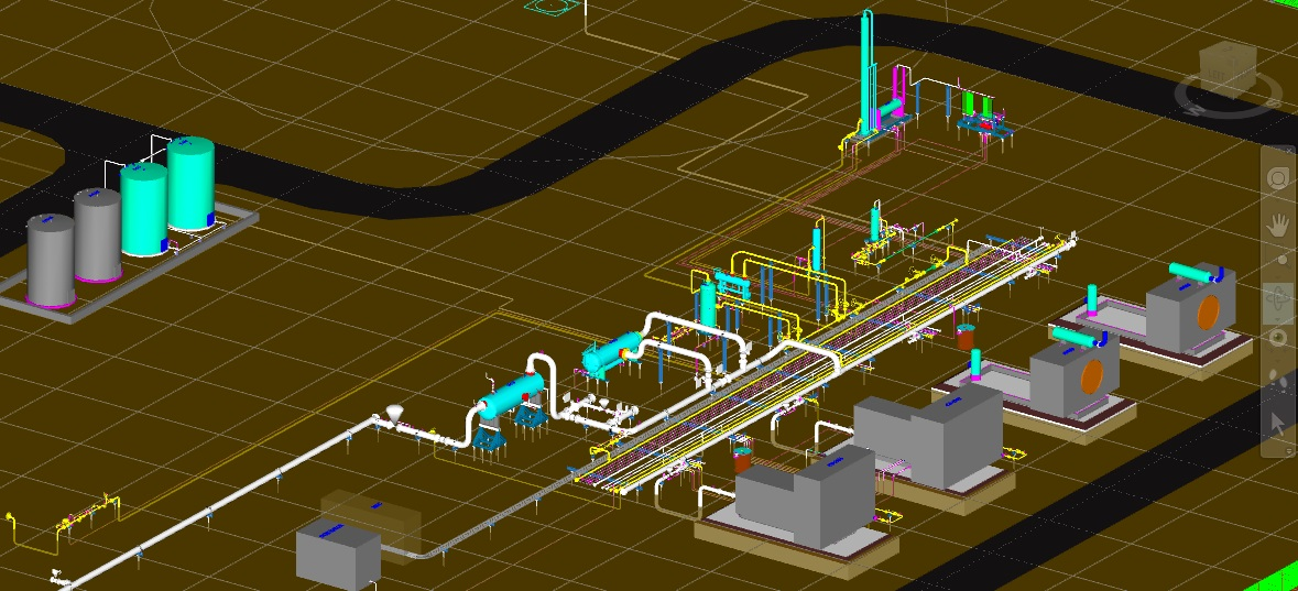 Structural Equipment And Piping 3D Modeling Of Compressor
