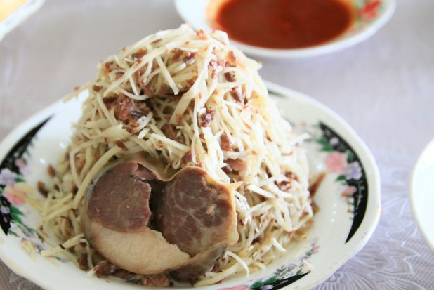 Horse Sausage and Cold noodles
