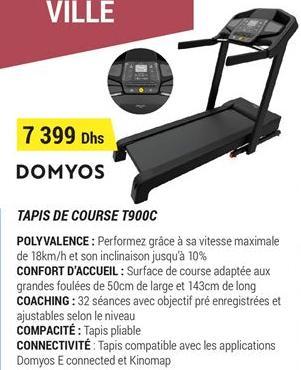 promotion domyos tapis de course t900c