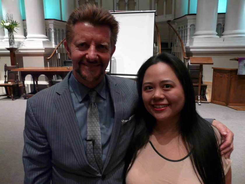 Dr Brian Clement with Angela Ang in Kensington
