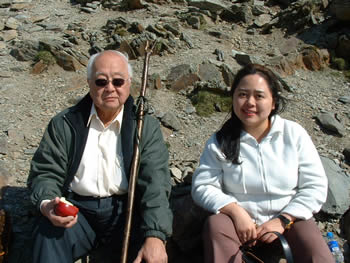 Studying the shape of mountains in Wales with the late Grand Master Yap Cheng Hai