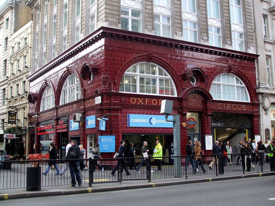 Oxford Circus tube in Central London