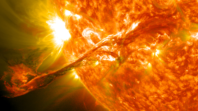 A massive Coronal Mass Ejection or solar flare