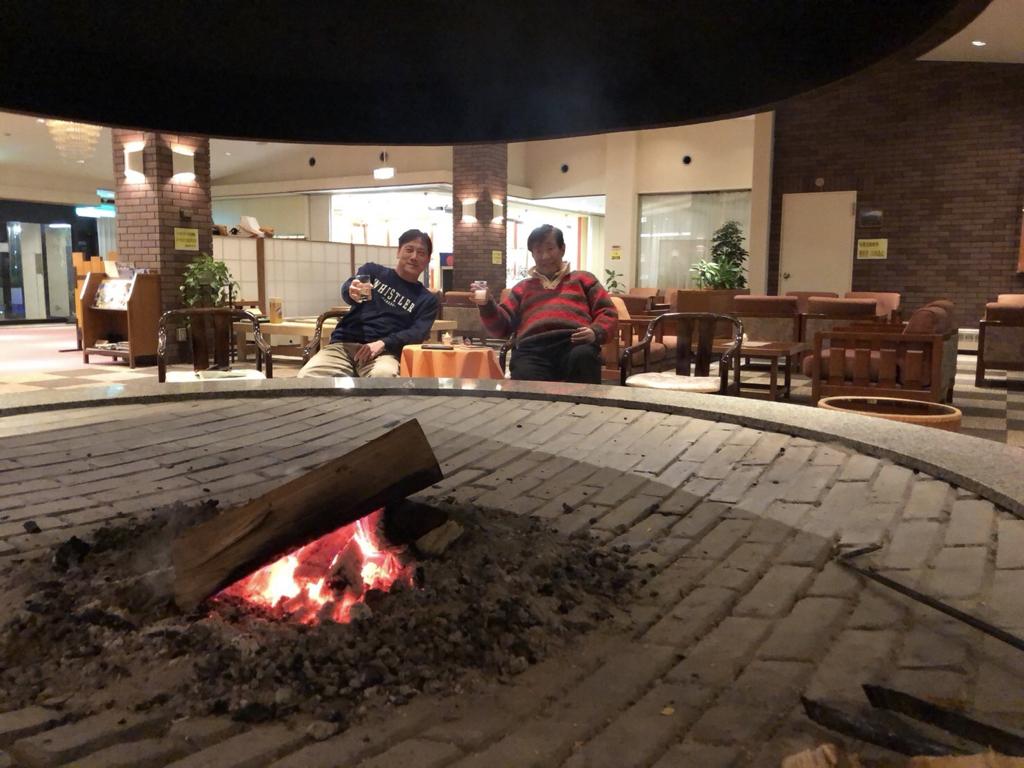 八幡平ライジングサンホテル暖炉