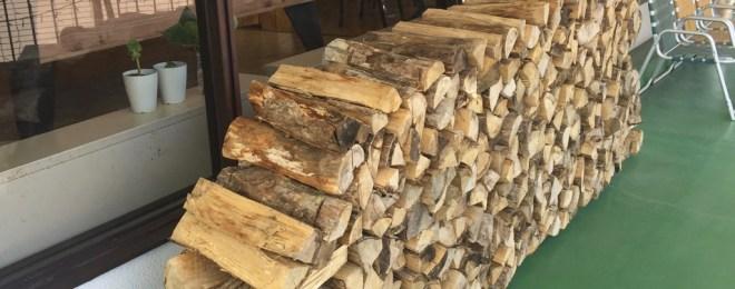 八幡平ライジングサンホテル暖炉用の薪