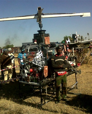 Vusimuzi Mbatha stands near his helicopter. (Supplied, News24 Correspondent)