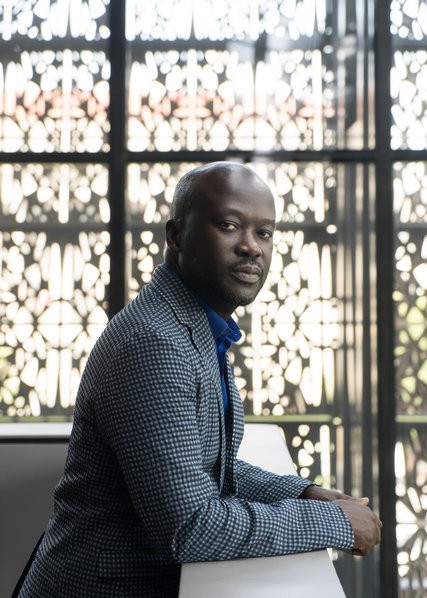 """'It's a building that I was clear from the start was not going to be white marble,"""" says David Adjaye, architect of the African American Museum of History and Culture. """"It needed to speak a different language."""" Credit Justin T. Gellerson for The New York Times"""
