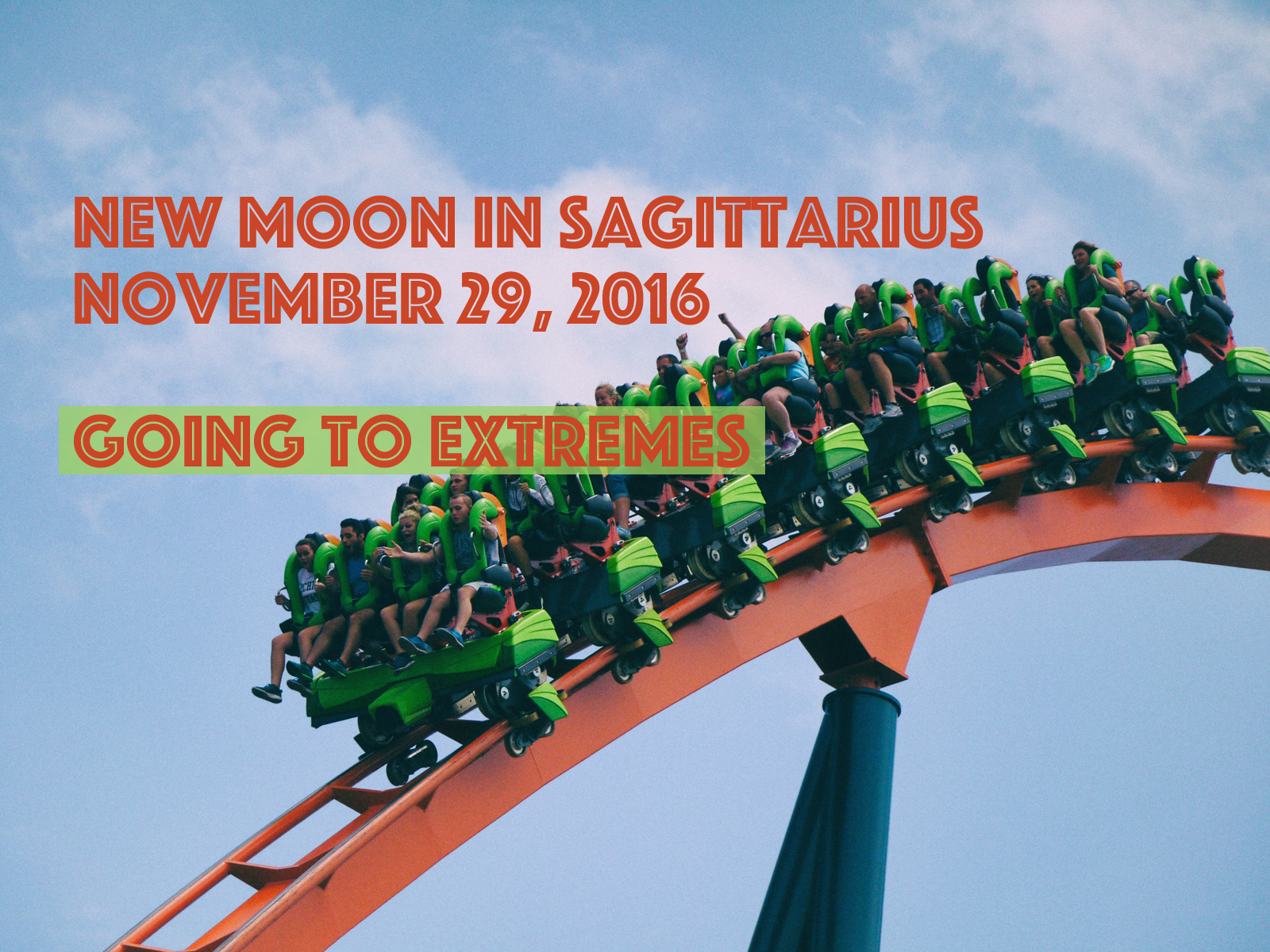 New Moon in Sagittarius: Going to Extremes