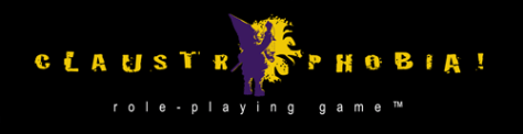 Claustrophobia! Role-Playing Game logo.