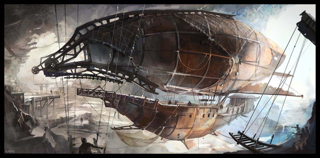 Pirates airship by Min-Nguen