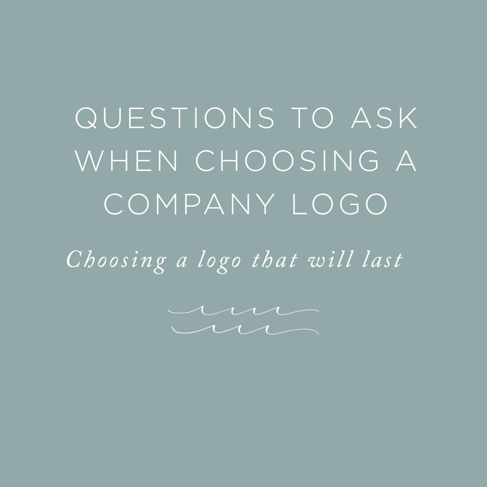 Questions to ask when choosing a company logo | via the Rising Tide Society