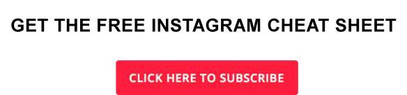 Instagram Cheetsheet