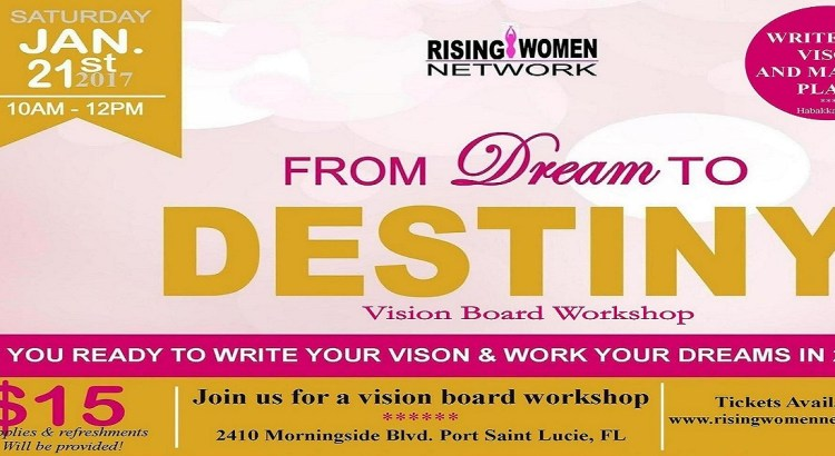 Please join me at From Dream To Destiny Vision Board Workshop, where you will use words and images to tap into your heart's truest desires.