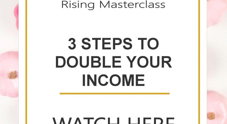 This simple 3 step strategy will help you double your income if you can actually apply the principles outlined in today's video.