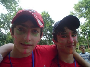Two boys at summer camp