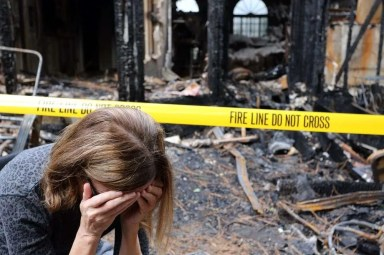 How do you clean up smoke damage after a fire