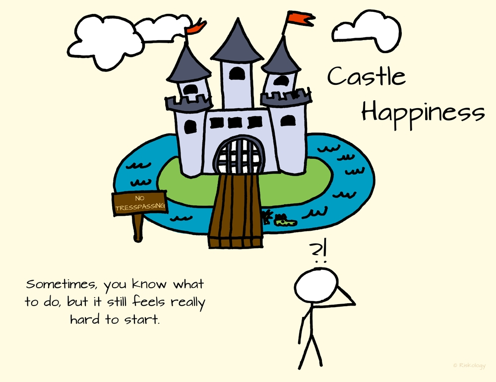 """We're all trying to gain access to """"Castle Happiness."""" Sometimes, you know what to do to get in, but it still feels really hard to get started."""