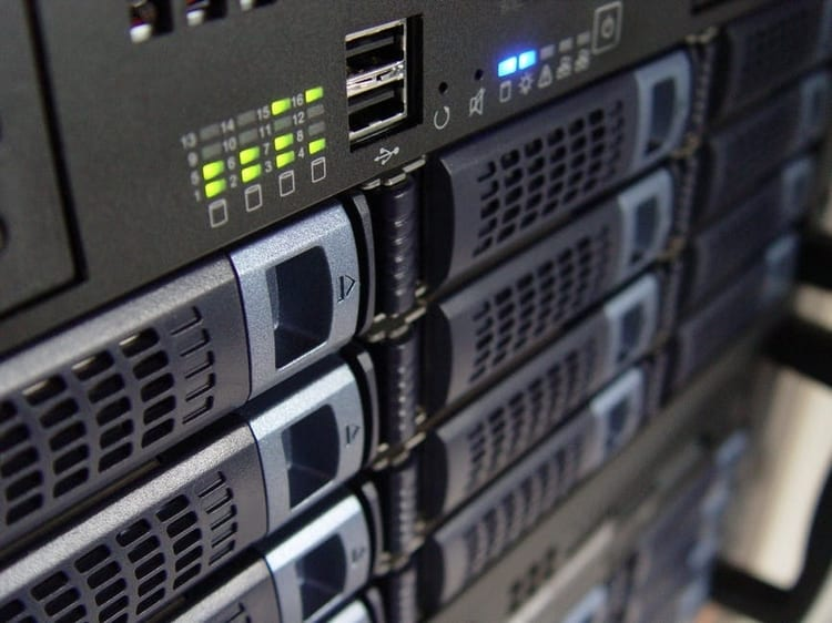 An image of computer servers