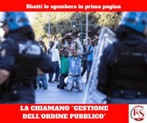 sgombero violento migranti eritrei piazza indipendenza