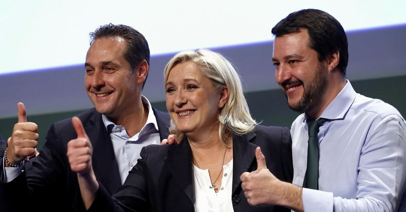 Le Pen Strache e Salvini al governo tornano pro euro