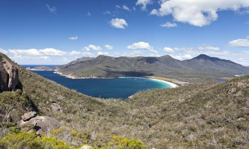 Wineglass Bay på Tasmanien