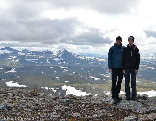 Jag och Anton uppe på toppen.