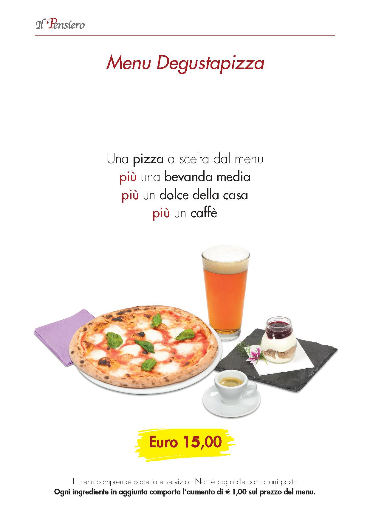 menu Il Pensiero DEGUSTAPIZZA