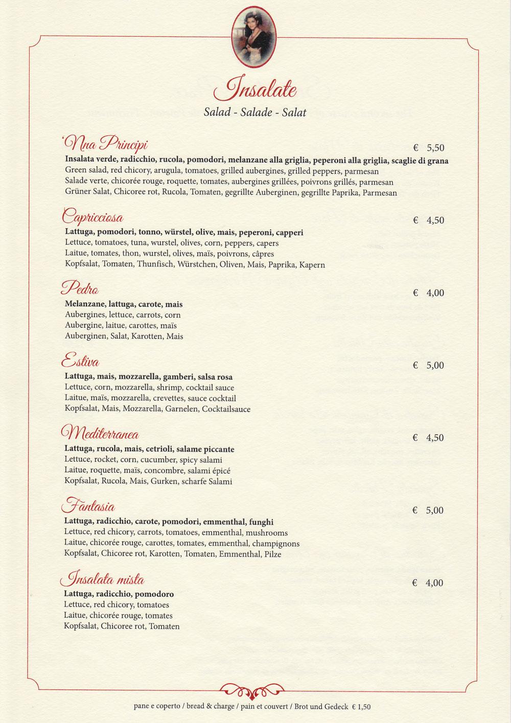 insalate ristorante 'Nna Principi di Cefalù