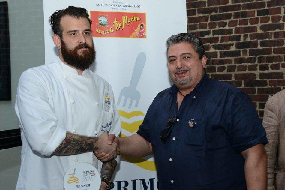 Lo chef Joshua Pinski ha vinto premio Il Primo di New York del pastificio Di Martino di
