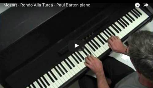 Il Rondò alla Turca di Mozart, dalla Sonata n. 11 in La maggiore K 331