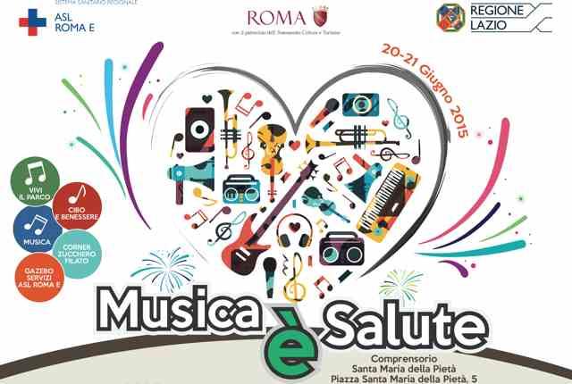 """Ci vediamo domenica 21 giugno a Roma, per """"Musica è salute"""""""