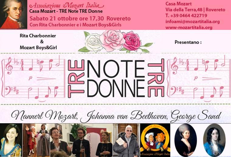 Tre note, tre donne   A Casa Mozart il 21 ottobre