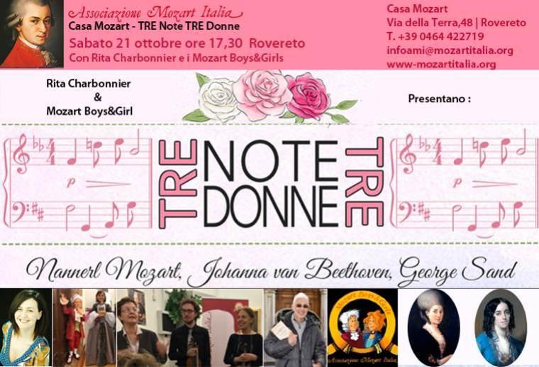 Tre note, tre donne | A Casa Mozart il 21 ottobre