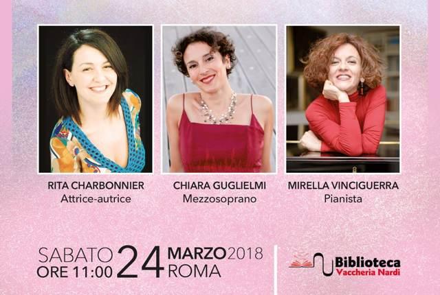 «Tre note, tre donne» a Roma il 24 marzo