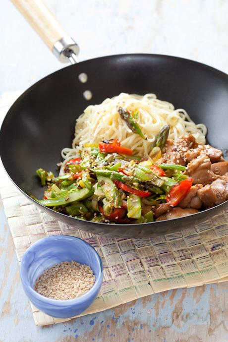 Cocina Wok Pollo Con Almendras