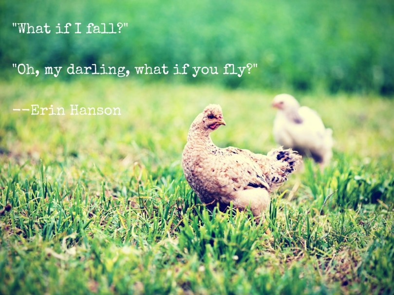 Erin Hanson, chicken, fear, fly