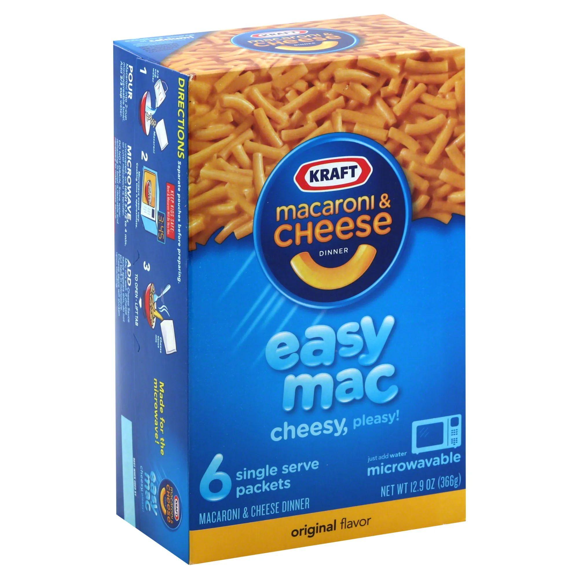 Kraft Macaroni And Cheese Dinner Original Flavor 6 Packets 12 9 Oz 366 G Rite Aid