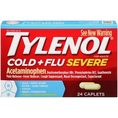 Tylenol Cold & Flu Severe for Adults - 24 caplets | Rite Aid