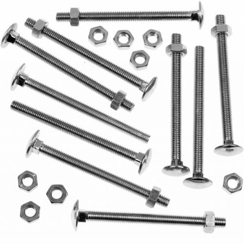 Picardy Zinc Plated Carriage Bolts With Hex Nuts M10x50mm