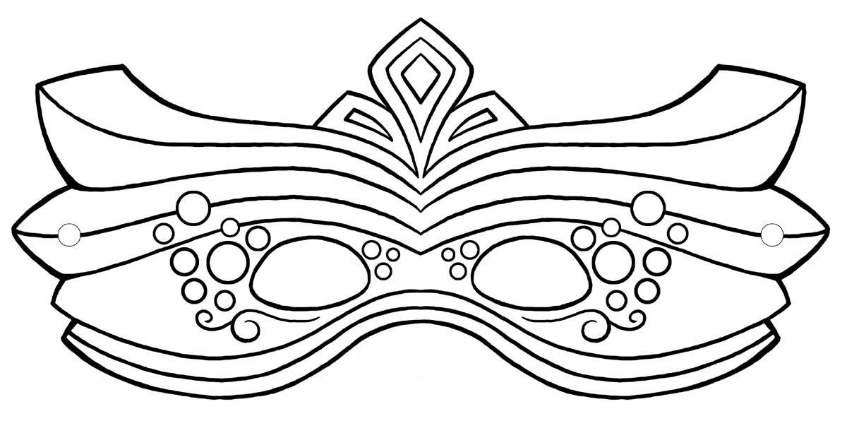 Färglägg Mask ritmallar