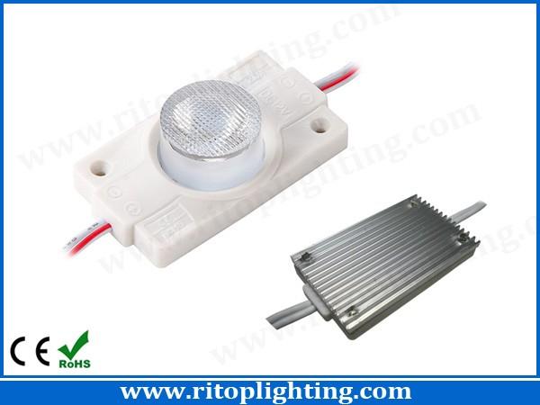 Edgelit 3W high power LED module with heat sink