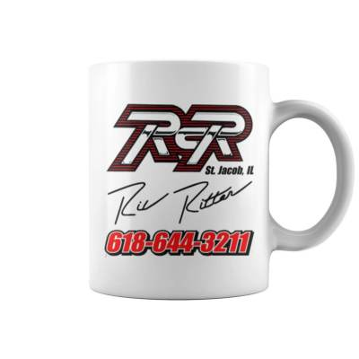 White RCR Ric Ritter Signature Mug