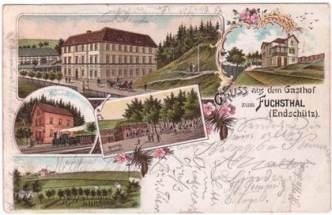 Postkarte Endschütz 1906