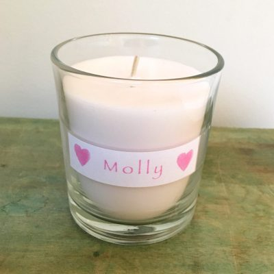 Baby funeral candle