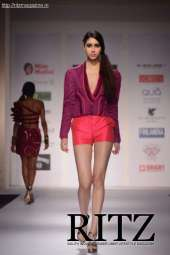 FormatFactoryA Model showcasing collection by Riddhi Siddhi on Day 2 of India Resortwear Fashion Week