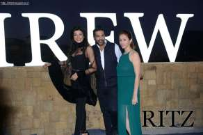 FormatFactorySushmita Sen, Rocky S and Reema Rathod, Spokesperson, E-Sense Entertainment at Day 3 of India Resortwear Fashion Week