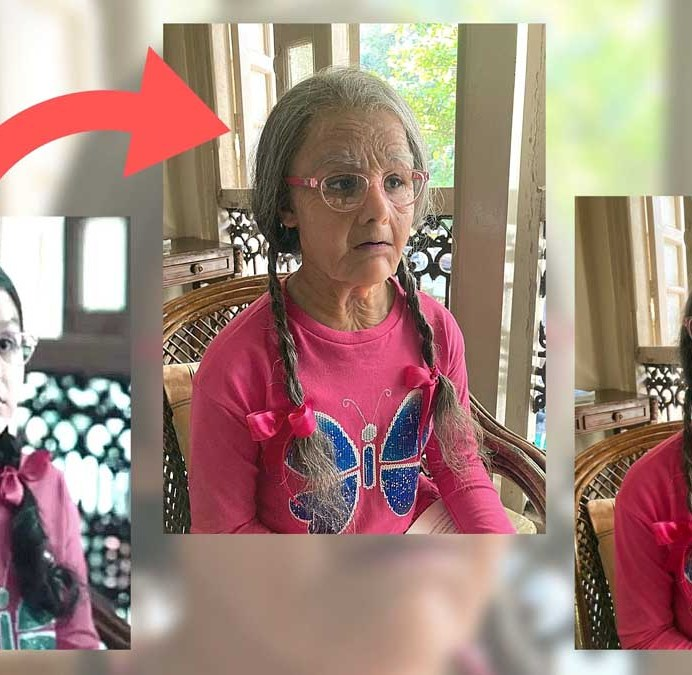 Preetisheel Singh Transforms 10-Year Old Girl Into A 90-Year Old (1)