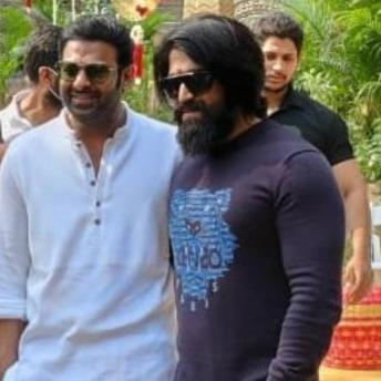 Prabhas And Yash From Salaar Launch In Hyderabad (2)